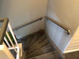 Treppenverlegung mit Teppichboden